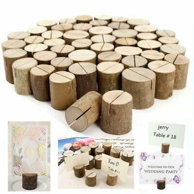 £12.99 • Buy 100 Wooden Table Card Holder Stand Number Place Name Menu Wedding Party Decor