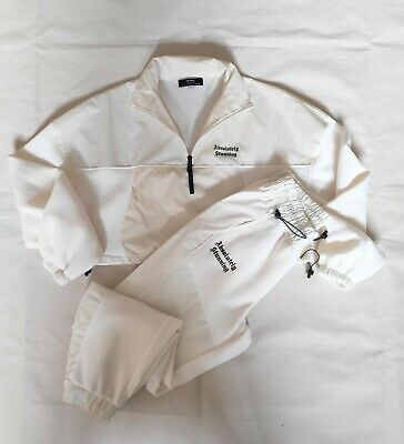£14 • Buy Ladies Fashion Tracksuit With Reflective Panel Detail. Bershka. Cream. Size S.