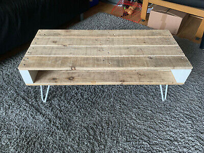 £29 • Buy Upcycled Reclaimed Pallet Coffee Table With Hairpin Legs