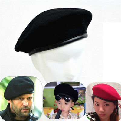 £5.31 • Buy Unisex Classic French Style Beret Cap Military Army Soldier Wool Beanie Hat、