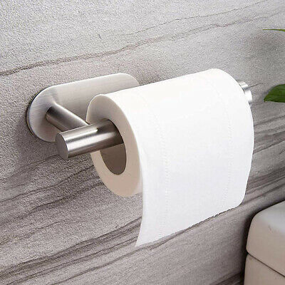 AU13.69 • Buy Wall Mount Toilet Paper Holder Stainless Steel Bathroom Kitchen Roll Paper Rack.
