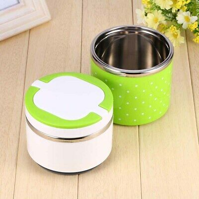 AU21.77 • Buy 2 Layer Stainless Steel Insulation Thermo Thermal Lunch Box Food Container US