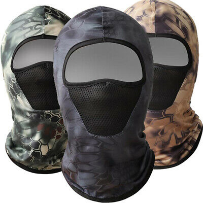 £3.26 • Buy Outdoor Balaclava Hood Quick-Drying Camouflage Skiing For Men Full Face Cover C