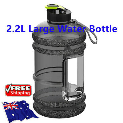 AU17.09 • Buy 2L Drink Water Bottle With Handle Large Workout Gym Training Camping BPA Free AU