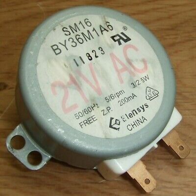 £10 • Buy Microwave Synchronous Turntable Motor Elensys SM16 BY36M1A6 5/6RPM 12mm Spindle