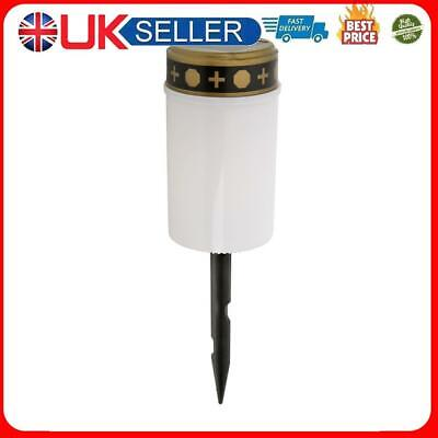 £7.03 • Buy Solar Power Grave Lawn Light Flameless Electronic LED Candle Lamp (White)