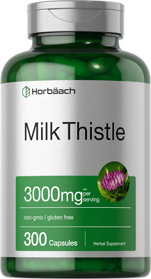 $15.49 • Buy Milk Thistle Extract 3000mg | 300 Capsules | Non-GMO, Gluten Free | By Horbaach