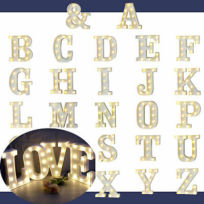 £6.89 • Buy LED Alphabet Letters Lights Stand Light Up Plastic Number Party Birthday Sign UK
