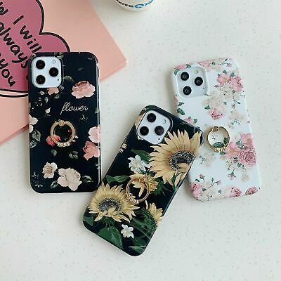 AU14.99 • Buy Sunflower Phone Case Cover Ring Stand Holder For IPhone 7 8 + XS 11 12 Pro Max
