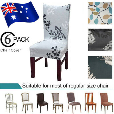 AU23.99 • Buy 6Pcs Stretch Dining Chair Cover Slipcover Seat Protector Banquet Wedding Party