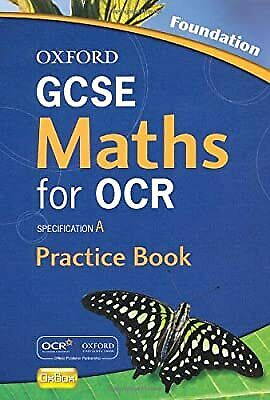 £2.26 • Buy Oxford GCSE Maths For OCR Foundation Practice Book And CD-ROM: Specification A,