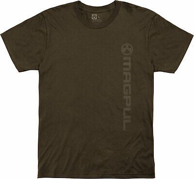 $23.01 • Buy Magpul 122030 Vertical Logo Fine Cotton Small Brown T-Shirt