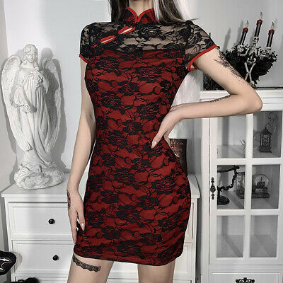 £15.97 • Buy Sexy Women Lace Dress Clothes Summer Party Floral Cheongsam Dresses Ball Gowns