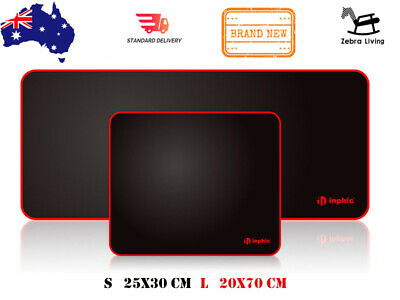 AU11.99 • Buy INPHIC Gaming Mouse Pad Office Desk Mat Anti-slip Rubber Speed Mat Pad 2 Options