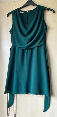 £10 • Buy Wal G Forest Green Cowl Neck Wrap Dress Size S