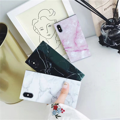 AU13.99 • Buy 3D Granite Marble Square Phone Case Cover For IPhone 6 7 8 Plus XS 11 Pro MAX XR