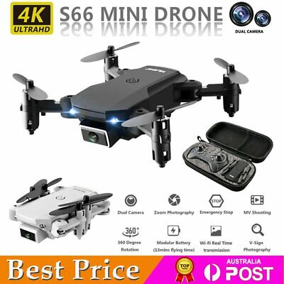 AU39.88 • Buy Mini Drone WIFI FPV With 4k HD Camera Foldable RC Quadcopter Helicopter Toy Gift