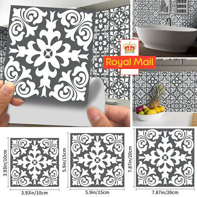 £5.65 • Buy Kitchen Tile Stickers Bathroom Mosaic Sticker Self-adhesive Wall Home Decor 24X