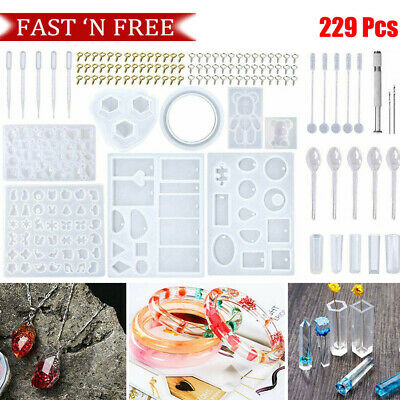 £7.42 • Buy 229Pcs Resin Casting Silicone Molds Tools Set Spoon Kit DIY Jewelry Craft Mould
