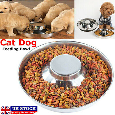 £7.59 • Buy Feeding Bowl Dish Stainless Steel Puppy Dog Pet Cat Litter Food Weaning Feeder~