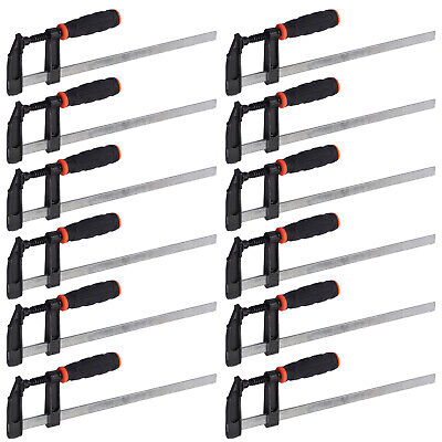 £28.99 • Buy 12pcs F Clamps Bar Clamp Set Brick Profile Clamp 300 X 50mm 12  For Wood Working