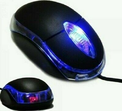 £4.50 • Buy USB Optical Small Wired Mouse For PC Laptop Computer Scroll Wheel BLACK UK New