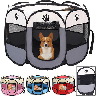 £17.99 • Buy Portable Cat Dog Crate Foldable Pet Case Play Tent Fence Collapsible Travel Cage