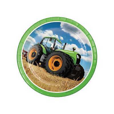 AU16.46 • Buy Tractor Time Round Paper Plates (8 Count), 8.75