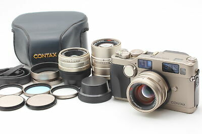 $ CDN3387.55 • Buy [Almost MINT+ 3Lens & Case Set]  Contax G2 28mm 45mm 90mm Strap Hood From JAPAN