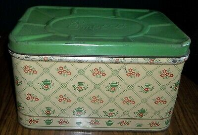 $42.99 • Buy Vtg Tin Metal Empeco National Can Co. NY Country Farmhouse Hinged Lid Bread Box