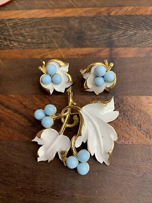 $21 • Buy Vintage Sarah Coventry Demi ~ Brooch/Pin & Earring Set ~  Placid Beauty  ~ 1967
