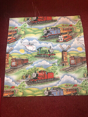 £5 • Buy Vintage Thomas The Tank Engine Fabric 83cm X 82cm Reclaimed But Great Colours
