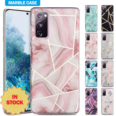 AU11.89 • Buy For Samsung S21 S20 FE Ultra S10 S9 S8 Plus Marble Case Shockproof Silicone Cove