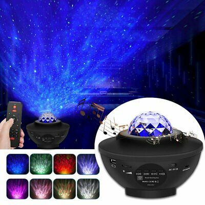 £16.94 • Buy UK Galaxy Star Night Lamp LED Starry Night Light Ocean Wave Projector With Music