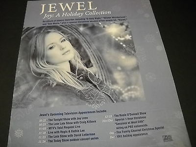 $ CDN12.53 • Buy JEWEL Kilcher Upcoming TV Appearances For JOY/ HOLIDAY 1999 Promo Poster Ad Mint