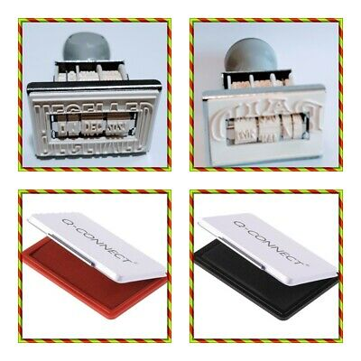 £5.99 • Buy Manual Rubber Word Date Stamp With Paid Received And Q-Connect Ink Stamp Pad