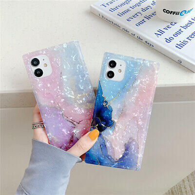 AU13.99 • Buy Granite Square Marble Phone Case Cover For IPhone 7 8 Plus X XR XS 11 12 PRO MAX