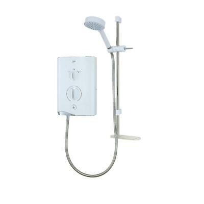 £114.28 • Buy Mira Manual Electric Shower Sport Multi-Fit White With Riser Rail 9kW