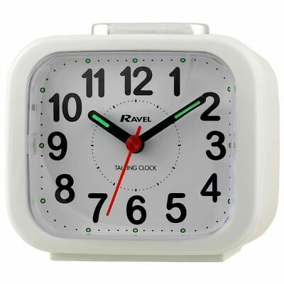 £11.99 • Buy Ravel White Talking Clock For Blind Or Partially Sighted - Brand New
