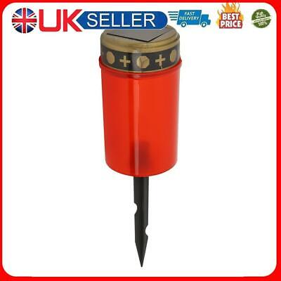 £7.03 • Buy Solar Power Grave Lawn Light Flameless Electronic LED Candle Lamp (Red)