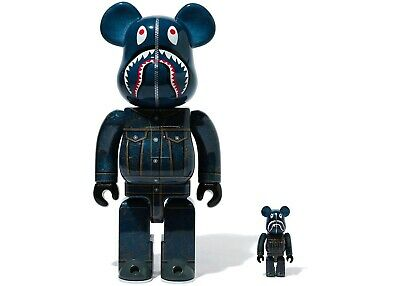 $800 • Buy Limited Edition Brand New Bearbrick X Bape X Levi's 100% And 400% Set Sold Out