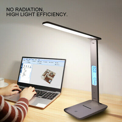 AU29.99 • Buy USB LED Desk Lamp Touch Senor Bedside Table Lamps Study Reading Light Dimmable