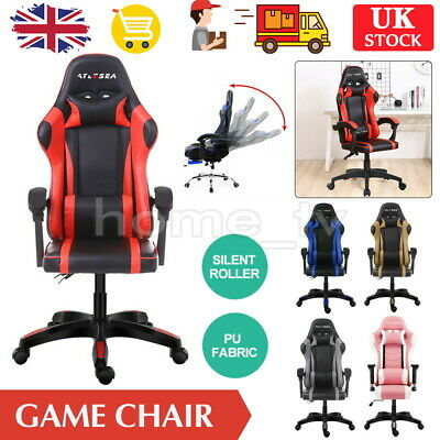 £61.99 • Buy Gaming Office Chair Racing Game Executive Footrest Computer Seat PU Leather