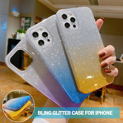 AU12.99 • Buy For IPhone 12 11 Pro Max SE 8/7 Plus XS XR Shockproof Case Bling Glitter Cover