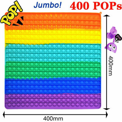 £12.99 • Buy 40x40cm Big Size Jumbo Bubble Popit Fidget Toys ADHD Stress Relief Hand Game Toy