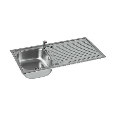 £51.99 • Buy Astracast Kitchen Sink And Tap Stainless Steel 1 Bowl Single Lever 965x500mm