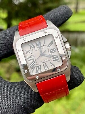 $5500 • Buy Cartier Santos 100 XL Mens Stainless Steel Luxury Sports Watch Box And Papers
