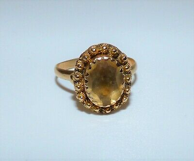 £495 • Buy Georgian 18ct Gold Foiled Citrine Cannetille Ring Closed Back Uk P 1/2 Stunning