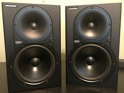 $749 • Buy PAIR - Mackie HR824 High Resolution Studio Monitors Speakers With Isolation Pads