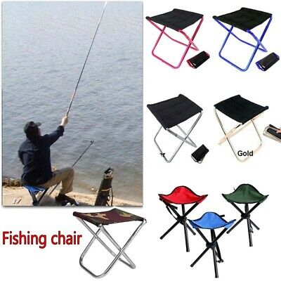 £10.99 • Buy Portable Outdoor Foldable Camping Chair Aluminum Fishing Hiking Stool